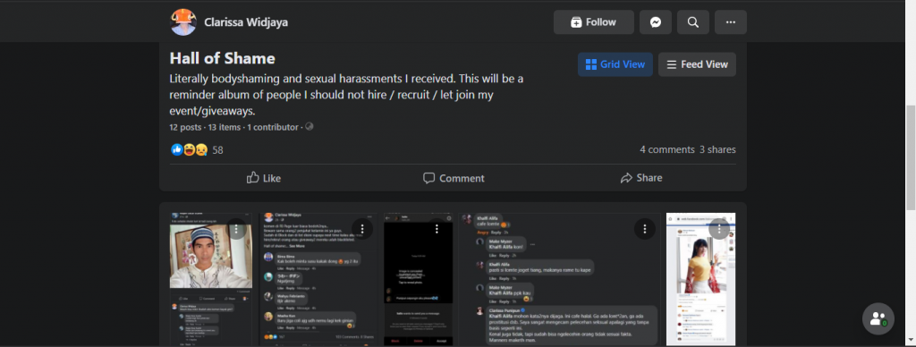 'Hall of Shame' as a place to speak up for sexual harassment actors.